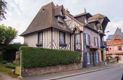 French traditional house. Etretat, Normandy, France Royalty Free Stock Image
