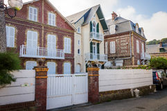 French traditional house. Etretat, Normandy, France Royalty Free Stock Photo