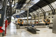French train station in Barcelona Stock Photo