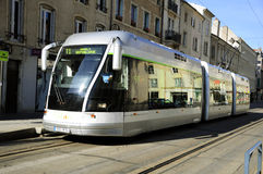 French tram in Nancy (France) Royalty Free Stock Images