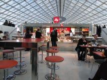 French travelers enjoy breakfast Stock Images