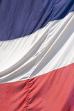 French tricolore. Frame filling shot of the French flag on a bright and sunny day Royalty Free Stock Photography