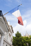 French tricolore. French flag blowing in in wind on a bright day Stock Photos