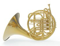 French Trombone - Side View Royalty Free Stock Images