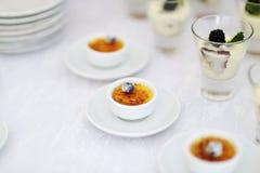French vanilla cream dessert Royalty Free Stock Images