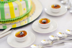 French vanilla cream dessert Royalty Free Stock Photography