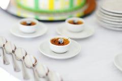 French vanilla cream dessert Royalty Free Stock Image