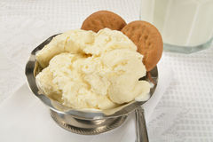 French vanilla ice cream Royalty Free Stock Photos