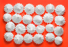 French Vanilla Meringue Cookies Stock Photo