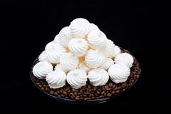 French vanilla meringue cookies Royalty Free Stock Image