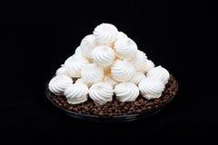 French vanilla meringue cookies Stock Images