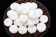 French vanilla meringue cookies Royalty Free Stock Photography