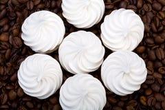 French vanilla meringue cookies Royalty Free Stock Photos