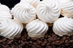 French vanilla meringue cookies Stock Photos