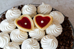 French vanilla meringue cookies Royalty Free Stock Photography
