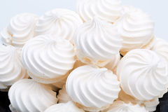 French vanilla meringue cookies Stock Images