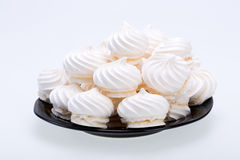 French vanilla meringue cookies Royalty Free Stock Images
