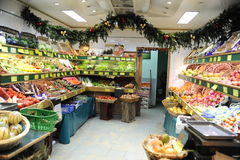 French vegetable shop in Paris Royalty Free Stock Photography