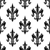 French victorian fleur-de-lis seamless pattern Stock Photo