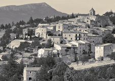 French Village. A village on a hillside in Provence, France Stock Photo