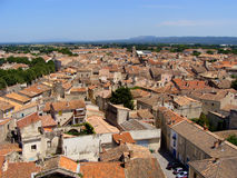 French village. View over the southern French town of Tarascon sur Rhone Royalty Free Stock Photos