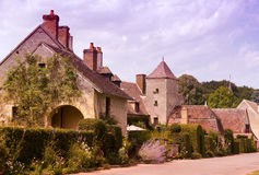 French village. Typical french village with original old stonework Royalty Free Stock Photo