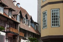 French Village. Colmar Tropicale, which is a replica of a 16th Century French village Stock Image