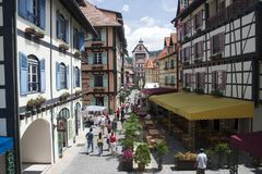 French Village. Colmar Tropicale, which is a replica of a 16th Century French village Royalty Free Stock Photos