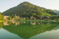 French village in the Alps Mountains Royalty Free Stock Photos