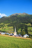 French village in alps Royalty Free Stock Photo
