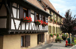 French village, Alsace, France Stock Photo