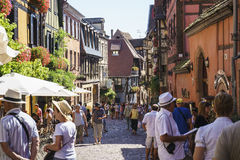 French village, Alsace, France Royalty Free Stock Images