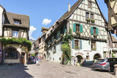 French village, Alsace, France Royalty Free Stock Image