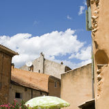 French Village with blue summer sky Stock Photos