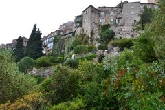 Old town on the mountain in france royalty free stock images