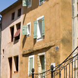 French Village, colored shutter. Provence. Royalty Free Stock Photo