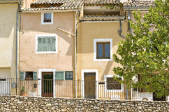 French Village, facade. Provence. France. Royalty Free Stock Photos