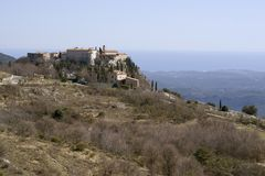 Village of Gourdon in French riviera Stock Photography