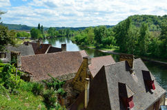 French village La Roque Gageac Royalty Free Stock Photography
