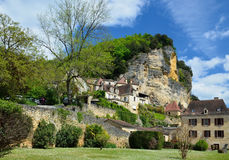 French village La Roque Gageac Royalty Free Stock Photos