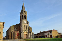 French village Lupiac in Gascony Royalty Free Stock Photography