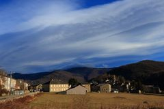 French village in Pyrenean mountains Stock Photography