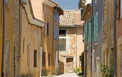 French Village street, Provence,France Royalty Free Stock Photography