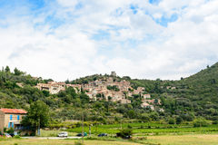 French village Vieussan, Languedoc-Roussillon Stock Photos