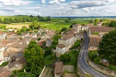 French village and vineyard Royalty Free Stock Photography