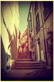 French village Vintage Stock Photography