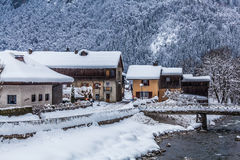 French Village in Winter Stock Images