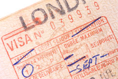 French Visa Royalty Free Stock Photography