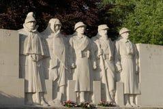 French war memorial statue. War memorial statue in Verdun, France royalty free stock images