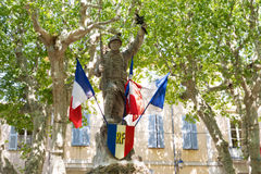 French war monument Stock Photography